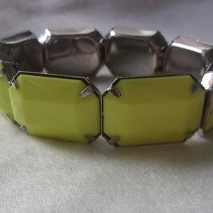 Jewelry - Lime Citron color cab stretch bracelet